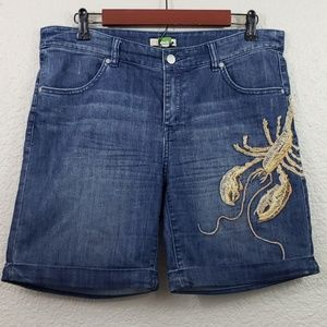 Ett:twa by Anthropologie Bermuda Embroidery Shorts